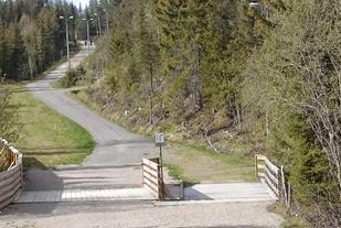 Starten er her ved den beryktede Gåsbubakken (skiløype)