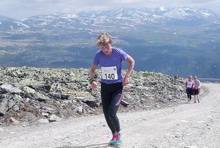 Line Lystad vant 15 kilometeren med 1258 meters stigning. (Foto: arrangøren)