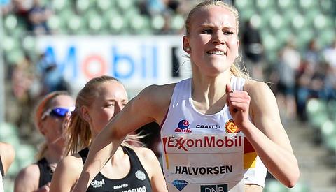 Ingrid Halvorsen Folvik er ei av til sammen ni jenter som er tatt ut på rekrutteringslandslaget. (Foto: Bjørn Johannessen)