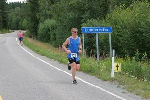 Fra den aller første olympiske distansen på Lunderseter i 2014 (Arrangørfoto)