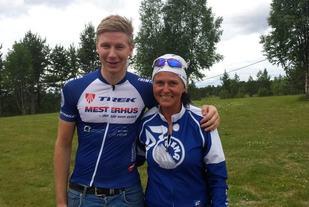 Eirik Fiskvik og Sissel Kulseth Østvold vant den femte utgaven av Femundrittet på overbevisende vis lørdag. (Foto: Engerdal Sykkelklubb)