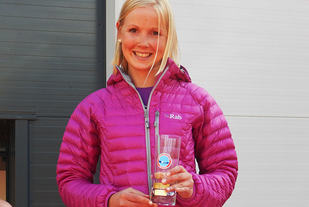 Ragnhild Susanne Molland som i fjor sette løyperekord på maraton med tida 3.08.42