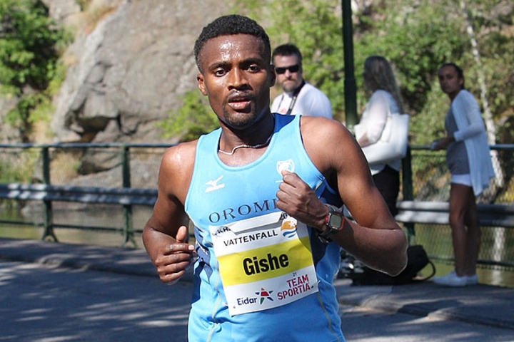 Gishe Abdi Wako er en gjenganger i teten når det konkurreres i løping på Lillehammer. (Arkivfoto: Kjell Vigestad)