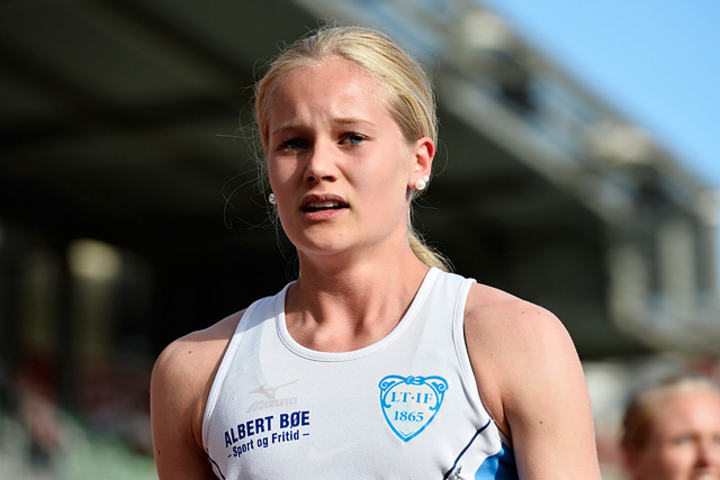 Malin Edland vant gull på 800 m under European Youth Olympic Festival 1. august. (Arkivfoto: Bjørn Johannessen)