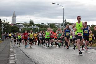 Fra årets Reykjavik Marathon som var ett av seks nordiske maratonløp med fler enn 1000 deltagere i fjor. (Arrangørfoto)