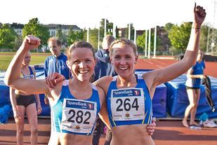 Hedda Hynne (til høyre) løp på 2.02,74 og Yngvild Elvemo på 2.02,87. (Arkivfoto: Helge Langen)