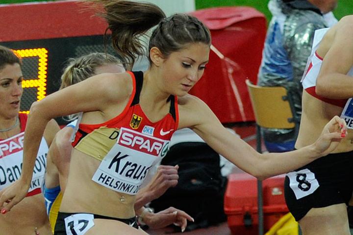 Gesa Felicitas Krause fikk til sist - etter at sølvjenta ble dopingtatt - bronsemedalje under EM i 2012 der dette bildet er tatt. Nå ble det bronse i konkurranse mot langt bedre løpere i VM. (Foto: Bjørn Johannessen)