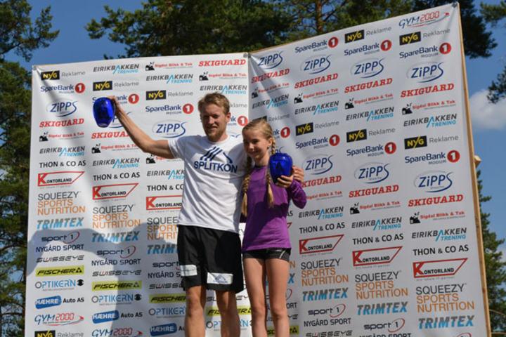 Per Kristian Nygård og Emma Kirkeberg Mørk kom først i mål i årets Koboltgruvene Opp. Foto: Arrangøren