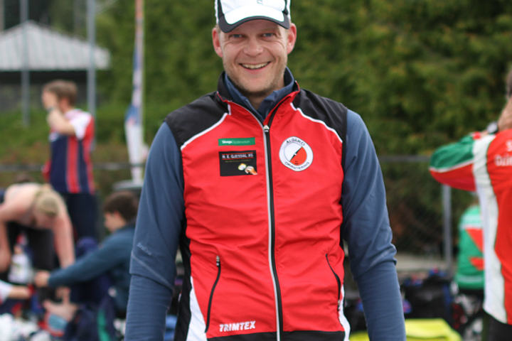 Ole Magnus Laugaland seiret i seniorklassen i KM-sprint. Foto: Thomas Hetland.