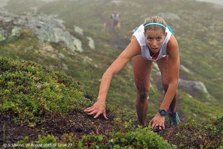 1. plass: Therese Sjursen, tid: 44:33 Foto: Svein Ulvund (vossnow.net)