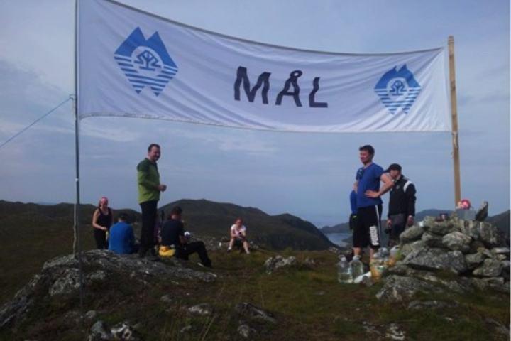 Fra målområdet på toppen av Røddalshornet 563 m.o.h.