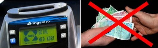 Illustrasjonsbilde med sedler og bankterminal
