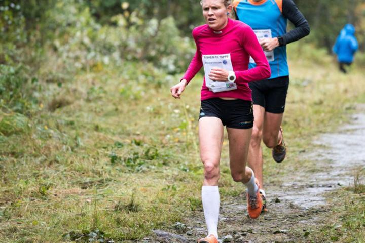 Anne Nevin under fjorårets rekordløp i Ranheim til topps. (Foto: Ole-Petter Holmvassdal)
