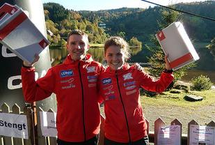 Glade vinnarar: Bjarte Vik og Kristin Löfgren