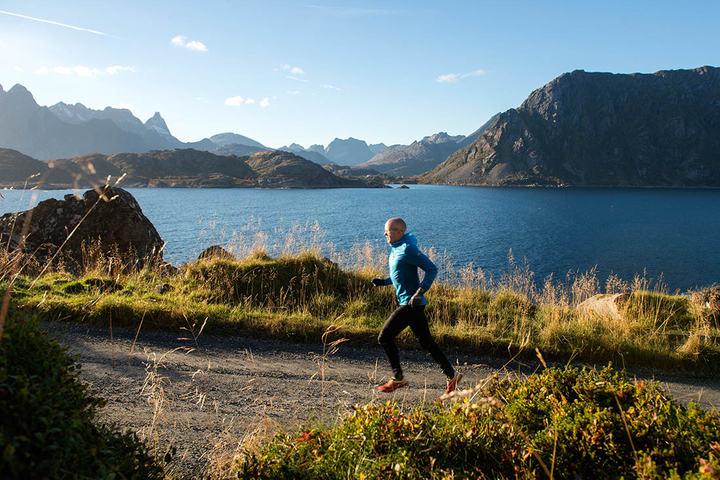Fra prøveløpingen i oktober, Svein Vestøl i fantastiske omgivelser (foto: Kai-Otto Melau).