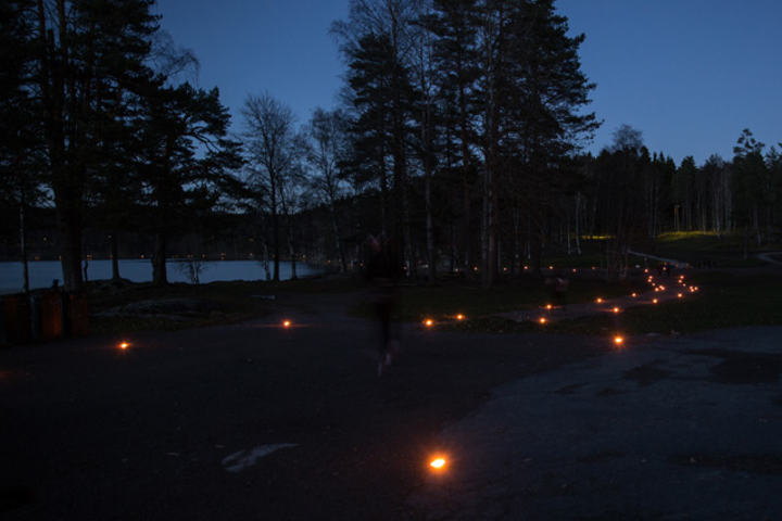 Fra det nestsiste fakkelløpet rundt Sognsvann oktober 2014.