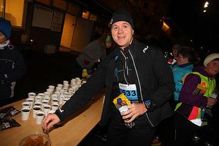 Fra Adventløpet 2015, Espen Sævold kan unne seg en pepperkake.