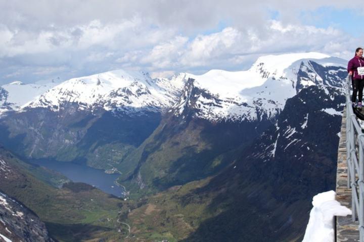 Utsikten fra Dalsnibba ned til Geiranger. Foto: Martin Hauge-Nilsen