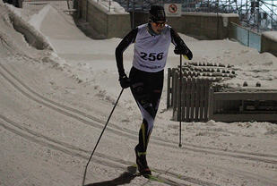 Eldbjørg Moxnes her i det andre OBIK-rennet 13.januar der hun ble nr.2 Foto: Lasse Wilhelmsen