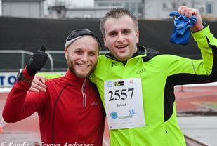 På forrige løp i Maratonkarusellen var Andreas Sumstad og Erlend Kent to fornøyde deltakere.