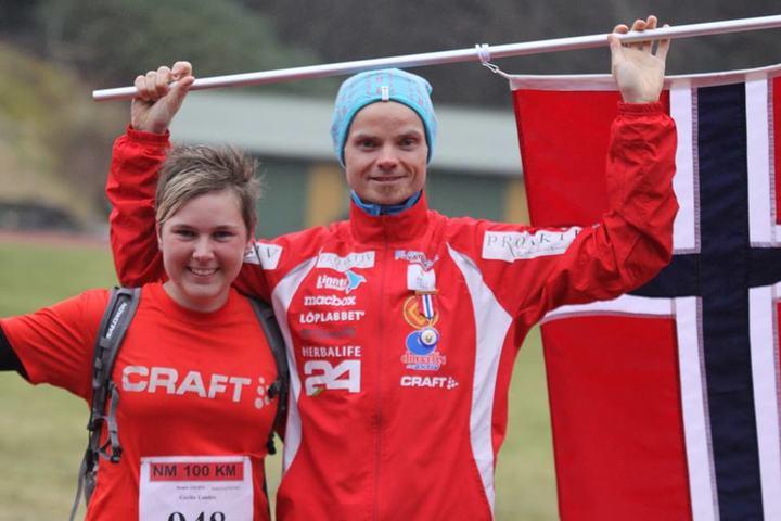 Blir det mer jubel på de doble gullvinnerne fra tidligere NM når årets 100-kilometers NM arrangeres i Bergen (Foto:Jan Ringheim)