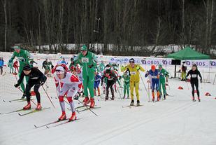 Fra fjorårets Østmarksrunden som ble arrangert 6.februar . Foto: Bjørn Hauge