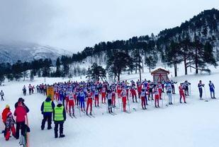 205 deltakere stilte opp i Skardilten på Skaret i Molde lørdag formiddaqg