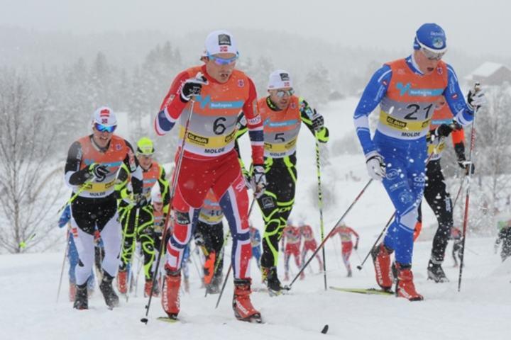 Tromsø IL arrangerte NM på ski for bare to uker siden - der dette bildet er fra. NM foregikk fra Kvaløysletta mens lørdagens renn gikk fra Tromsø skistadion på Tromsøya (foto: Arne Brunes).