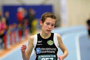 Trond Olav Halvorsen går først i mål på 1500m i G13