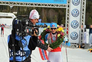 Seraina Boner vinner Birkebeinerrennet i mars.