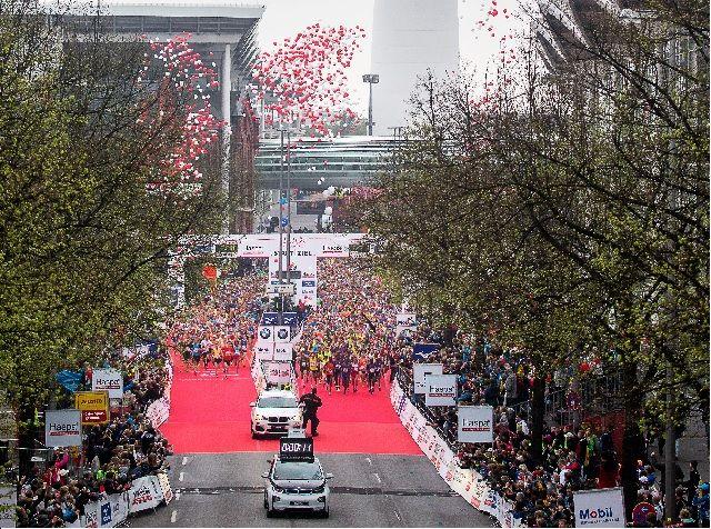 Fra en tidligere utgave av Hamburg Marathon (Arrangørfoto)