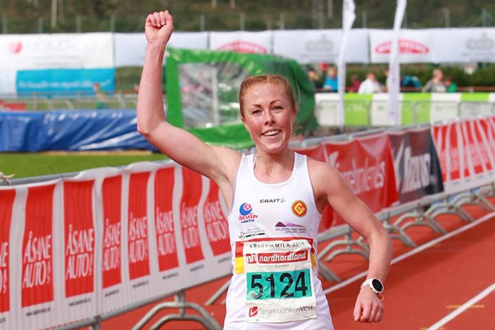 Konkurranseglade Eli Anne Dvergsdal stiller også i nordisk. (Foto: Kjell Vigestad)