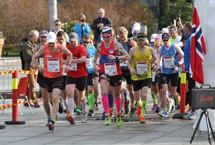 I fjor var 100 km i Bergen Ultra skilt ut som eget løp i forbindelse med NM 100 km i Bergen sentrum. I år er også 100 km en del av Bergen Ultra som arrangeres i den faste løypa i Fana (foto: Olav Engen).