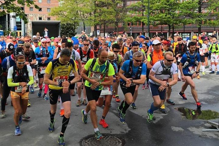 Fra starten på Norges største ultraløp i år, EcoTrail (foto: Sondre Amdahl).