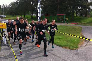 Robin Amundsen til venstre og Mari Weider til høyre, klare for å ta gull! (Foto: Line Hofoss Holm)