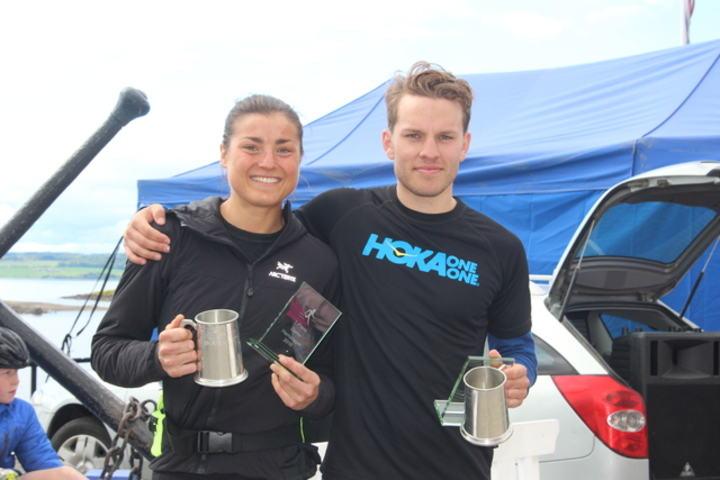 Årets totalvinnere i Hamarløpet: Kristin Wiseth, Sør-Beitstad IL og Ola Erling Korbøl, Sport 1 Hamar.