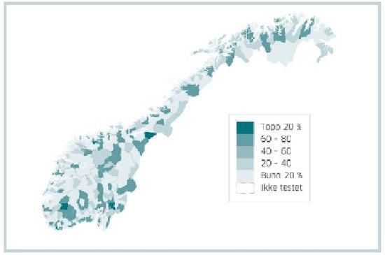 Illustrasjon - kart over Norge