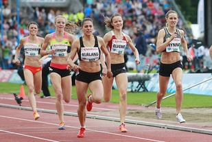 Forhåpentligvis blir det mange norske deltakere i felta under Bislett Games. Her ser vi Trine Mjåland, Yngvild Elvemo og Hedda Hynne under stevnet sist sommer. (Foto: Bjørn Johannessen)