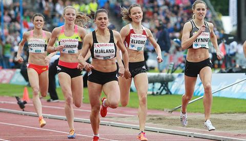 Akkurat som under Bislett Games, der dette bildet er tatt, løp den norske 800 m-trioen meget bra under tøffe forhold i Stockholm. (Foto: Kjell Vigestad)