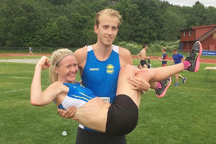 Lena Selen og Trond Einar Moen Pedersli vant 5 kilometeren i Trønder-Østløpet. (Foto: Terje Aas)