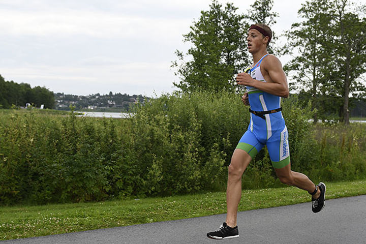 Endre Espedal, Haugesund Triathlonklubb vant den olympiske distansen i Østfold Triathlon med god margin. (Alle foto: Bjørn Johannessen)