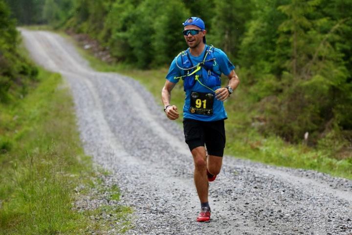 Truls Grøstad ved 16 km der han allerede hadde en solid ledelse (foto: Bjørn Hytjanstorp).