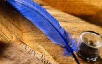 Blå fjerpenn