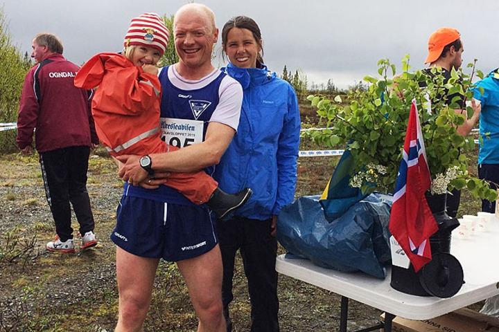Stian og Marie Stensland er klare for St.Olavsloppet Foto: Alaska Salmon Runners