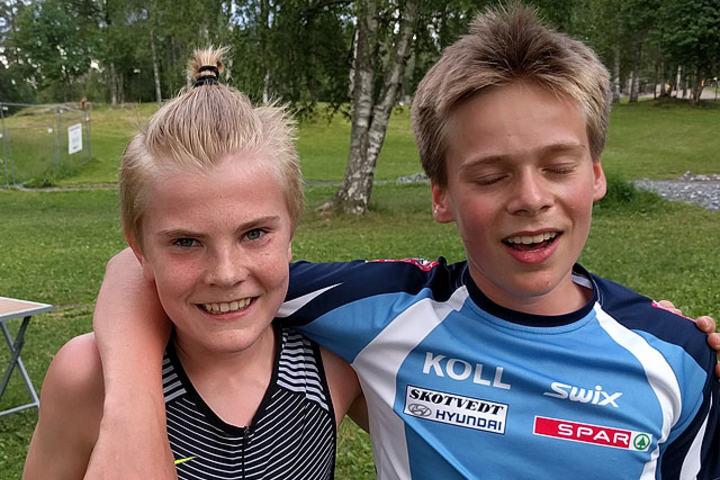 Tobias Grønstad og Olaf Talmo løp begge under 11 minutter på Sognsvann.