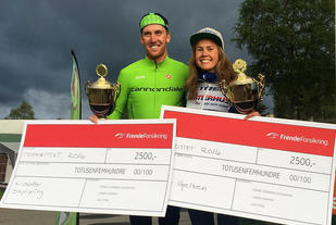 Blide vinnere av Topprittet 2016: Kristoffer Skjerping og Berit Gjelten. (Arrangørfoto)
