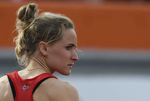 Hedda Hynne slo sin egen norske rekord på 800 m innendørs. (Arkivfoto: Bjørn Johannessen)