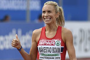 Ingvill Måkestad Bovim under EM i Amsterdam. Foto: Bjørn Johannessen