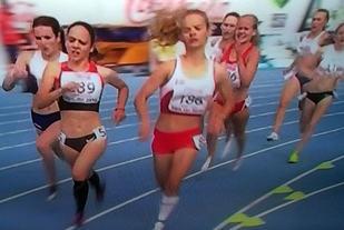 Drøye 100m igjen og Edland ligger på fjerdeplass.