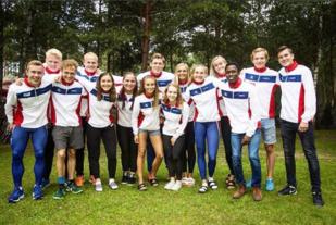 Det norske laget i Junior-VM i friidrett. Foto: Markus Einan på Insta.